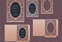 Ornamental Frame Envelope Card 5X7, Cricut Template, Pocket Envelope, Svg,  Dxf, Cricut, Silhouette Cameo, Laser Cut File within Silhouette Cameo Card Templates