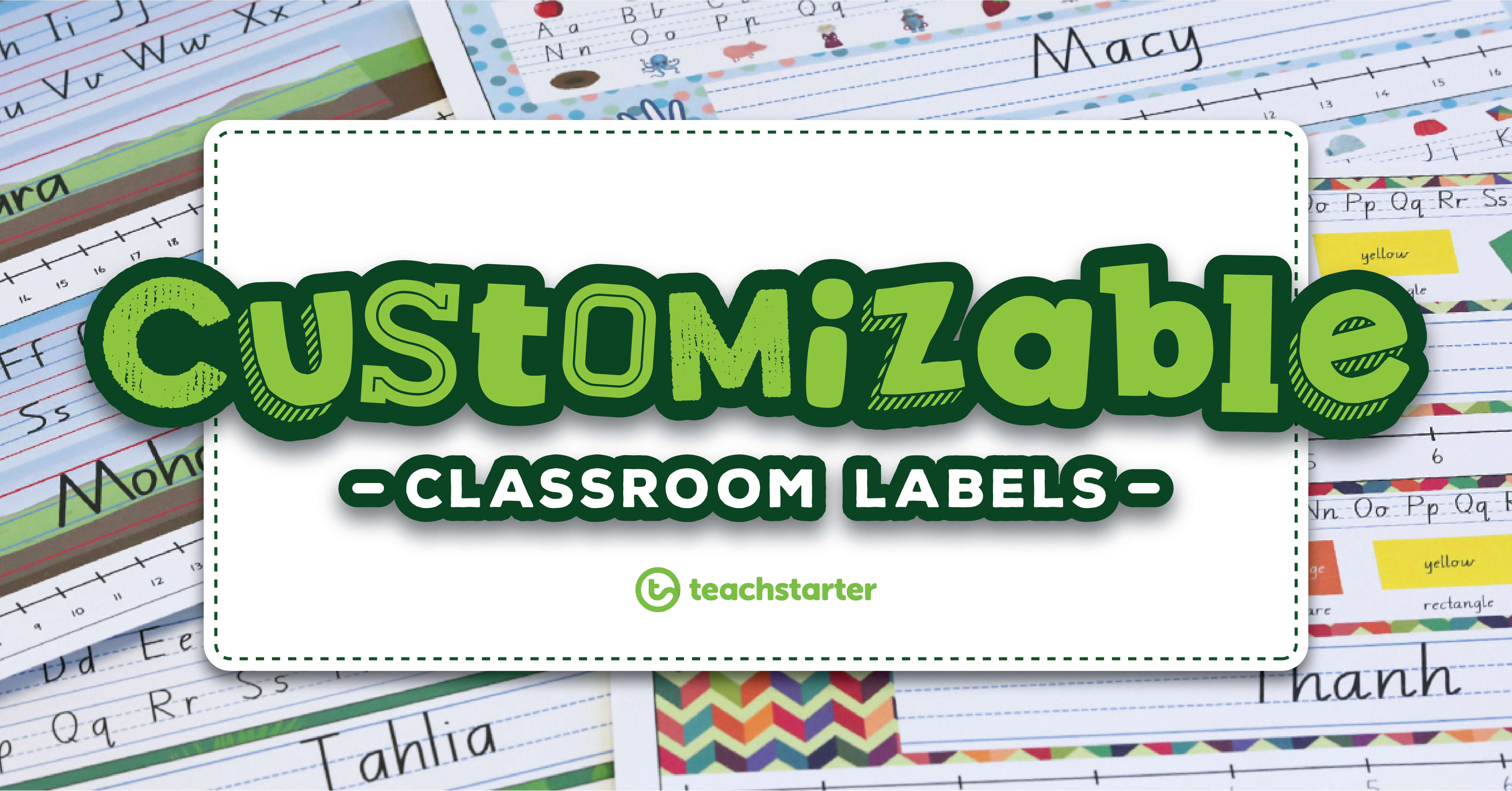 Our Most Popular Customisable Classroom Labels, Signs & Displays Inside Classroom Banner Template