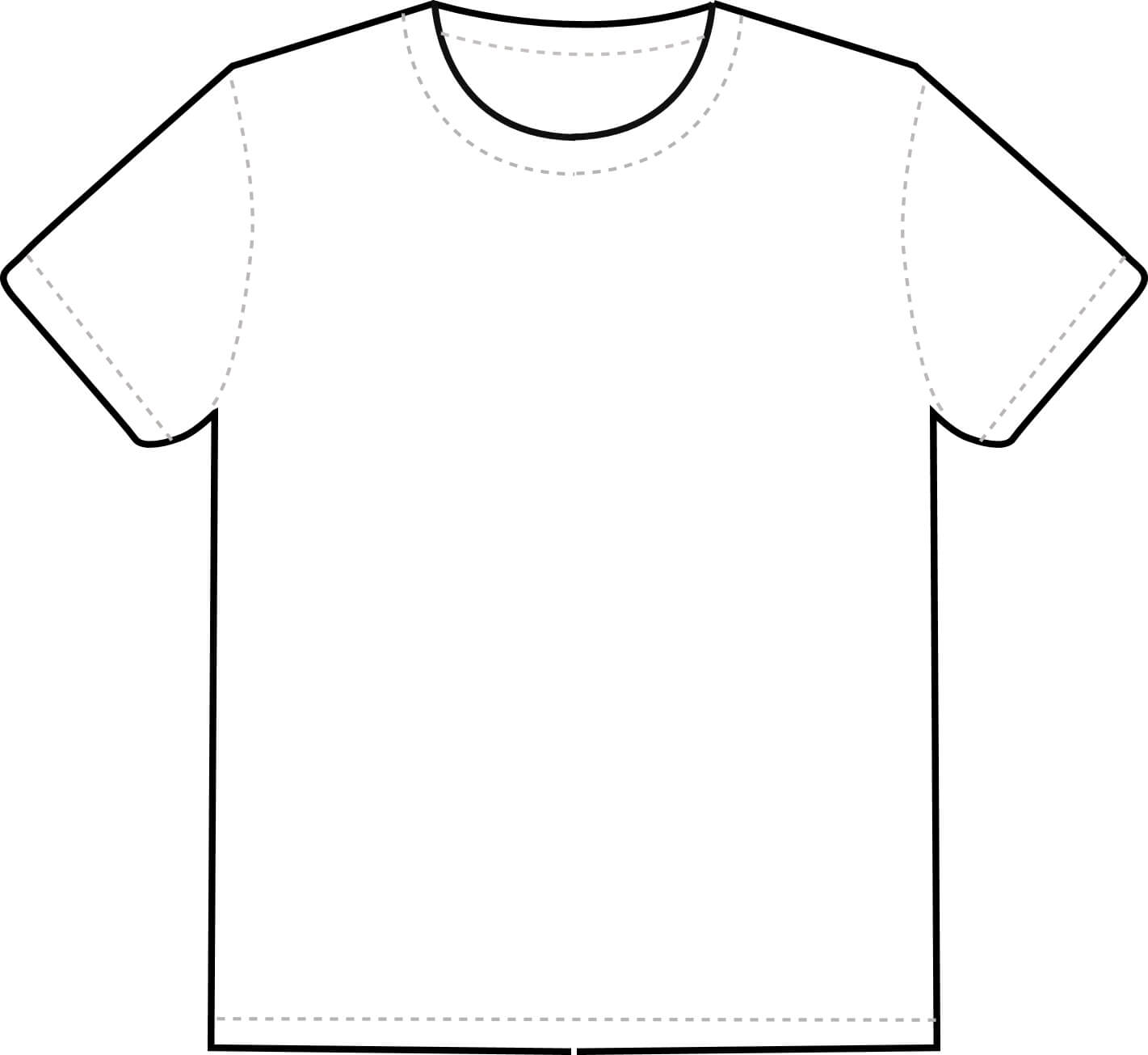 Outline Of A T Shirt Template | Free Download Best Outline Within Blank Tshirt Template Pdf