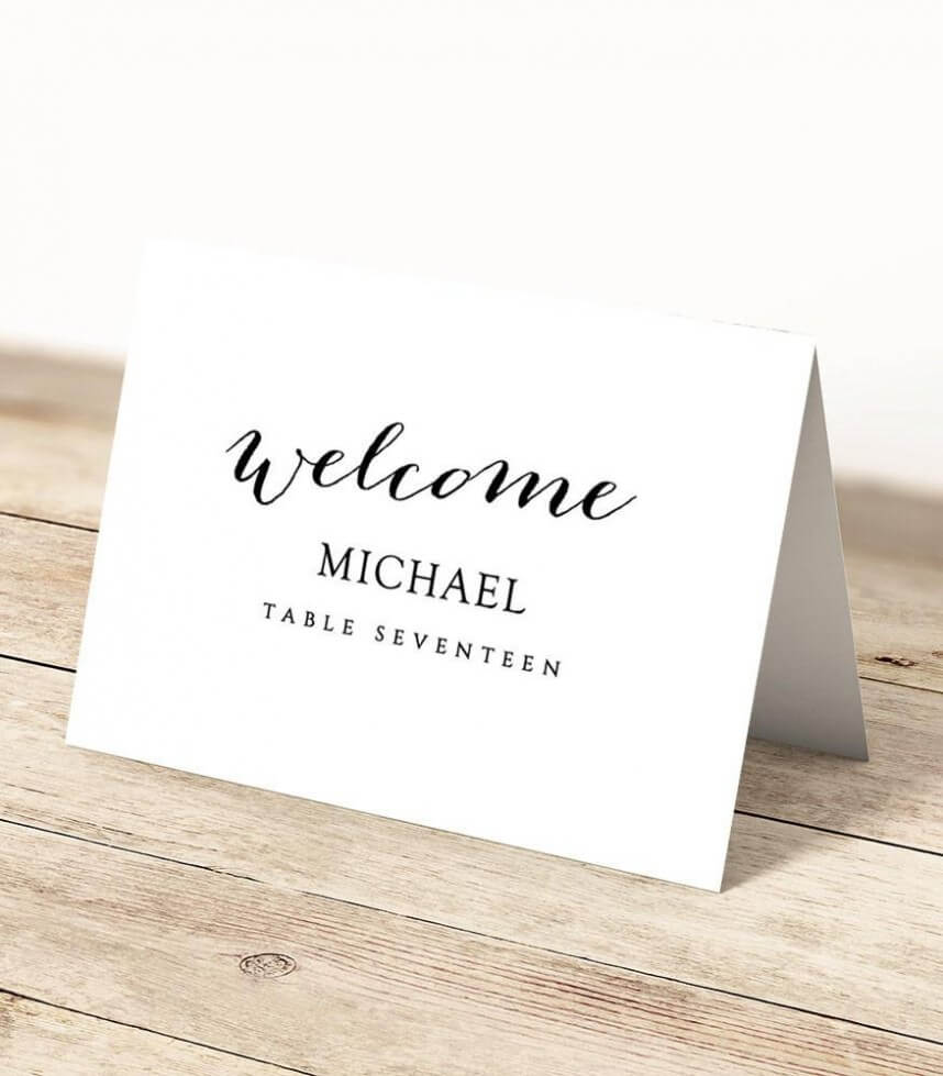 Outstanding Template For Place Cards Ideas Microsoft Word regarding Place Card Template 6 Per Sheet