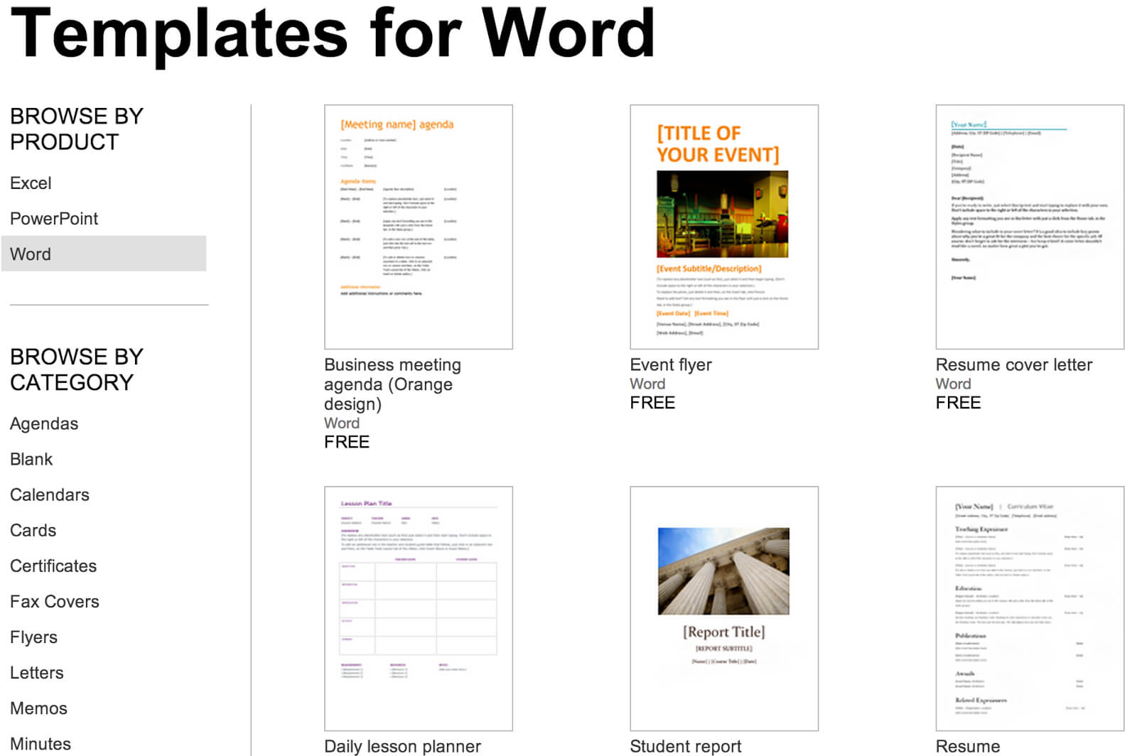 Over 250 Free Microsoft Office Templates & Documents throughout Microsoft Word Templates Reports