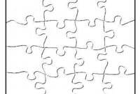 P Is For Puzzle – Free Blank Jigsaw Puzzle Template pertaining to Blank Jigsaw Piece Template