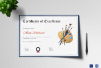 Painting Award Certificate Template in Award Certificate Design Template