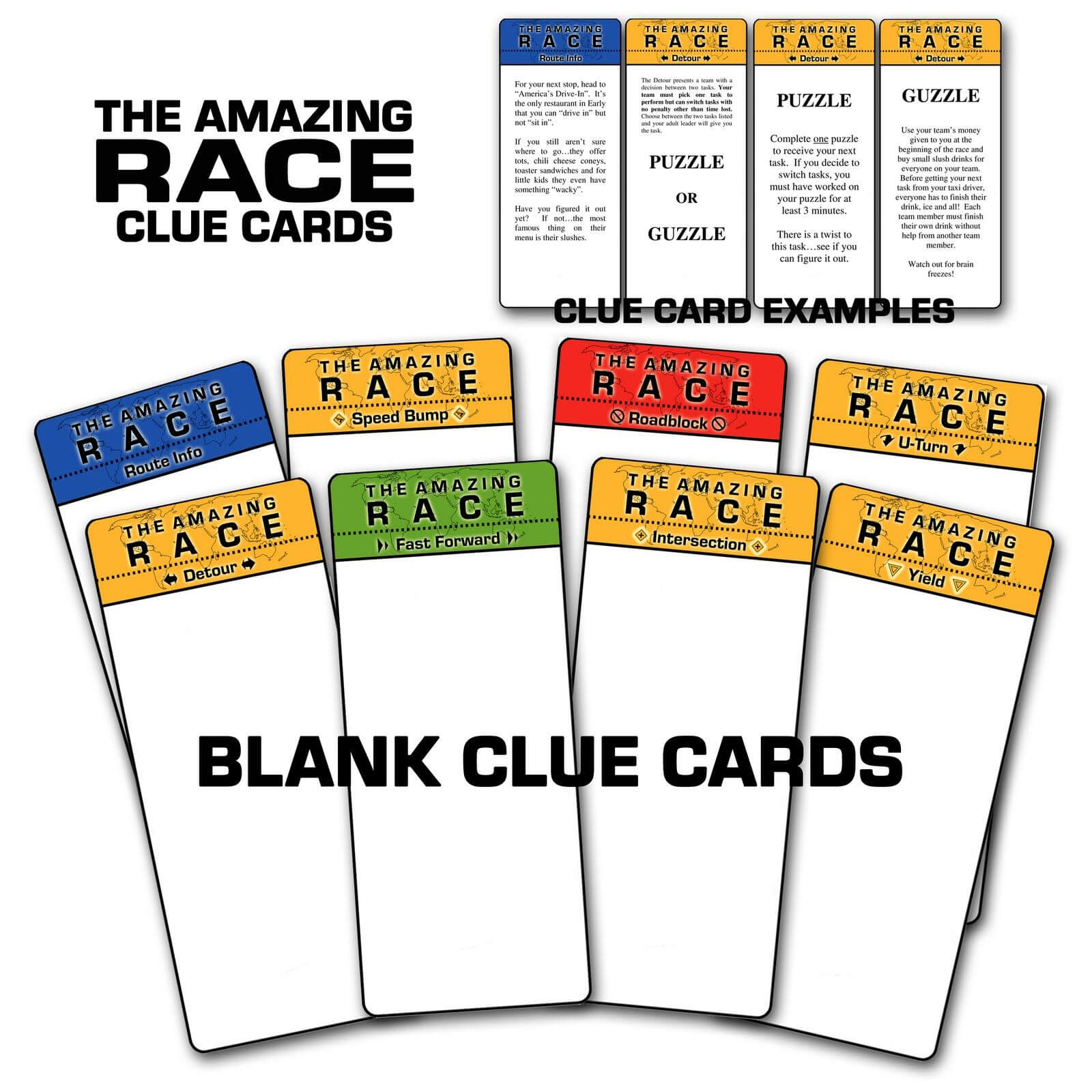 """Paper Perfection: Free """"amazing Race"""" Birthday Party Pertaining To Clue Card Template"""