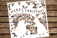 Papercut Diy Design Template – 'woodland Friends Christmas within Diy Christmas Card Templates