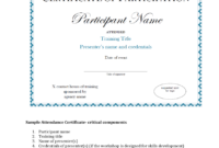 Participation Certificate – 6 Free Templates In Pdf, Word pertaining to Sample Certificate Of Participation Template