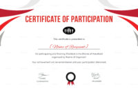 Participation Certificate For Running Template regarding Running Certificates Templates Free