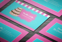 Party Cake Themed Bakery Business Card – Full Preview regarding Cake Business Cards Templates Free