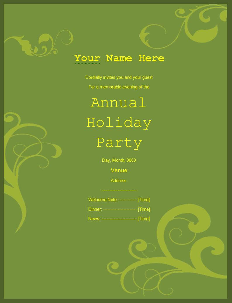 Party Invitation Templates | 5+ Free Printable Word & Pdf inside Free Dinner Invitation Templates For Word