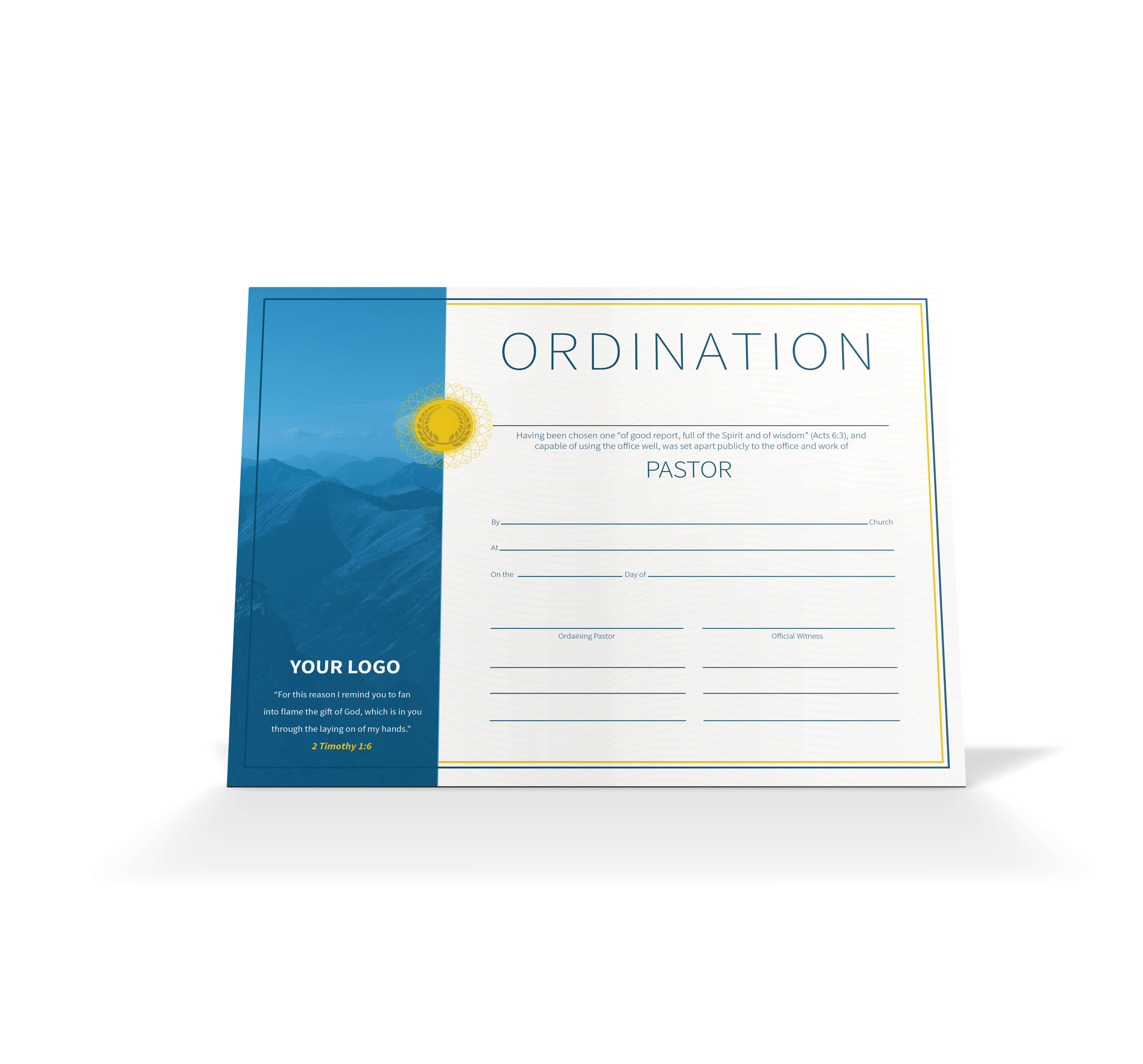 Pastor Ordination Certificate - Vineyard Digital Membership pertaining to Certificate Of Ordination Template