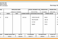 Paystubs Free – Major.magdalene-Project throughout Blank Pay Stub Template Word
