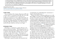 Pdf) Debriefing In The Emergency Department After Clinical for Event Debrief Report Template