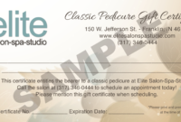 Pedicure-Gift-Certificate-Sample – Elite Salon Spa Studio with regard to Spa Day Gift Certificate Template