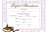 Perfect Attendance Certificate – Download A Free Template with regard to Perfect Attendance Certificate Template