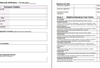 Performance Appraisal Form Template | Leadership | Financial with Staff Progress Report Template