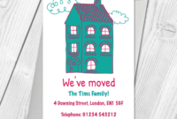 Personalised Home Sweet Home Change Of Address Cards in Free Moving House Cards Templates