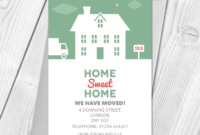 Personalised Home Sweet Home Change Of Address Cards within Free Moving House Cards Templates