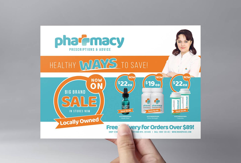 Pharmacy Flyer Template - Psd, Ai & Vector - Brandpacks pertaining to Pharmacy Brochure Template Free