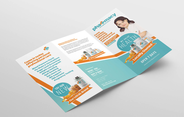 Pharmacy Tri Fold Brochure Template - Psd, Ai & Vector Intended For Pharmacy Brochure Template Free