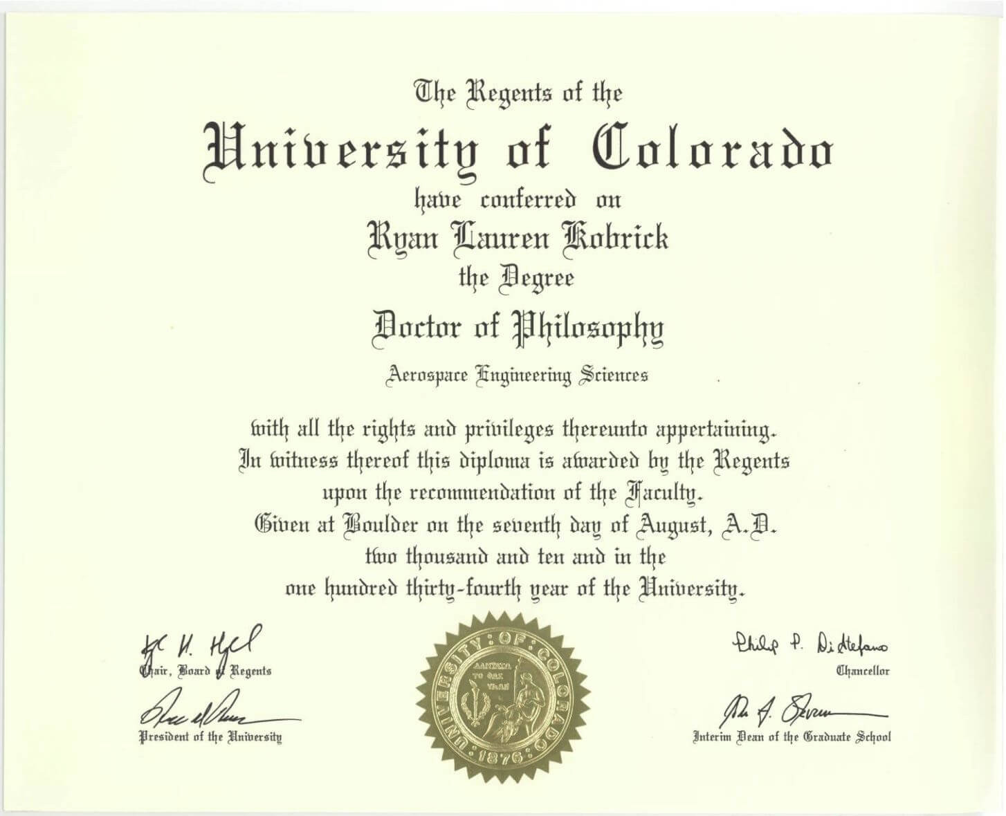 Phd Degree Template My Forth Degree, A Symbol Of   Essay inside University Graduation Certificate Template