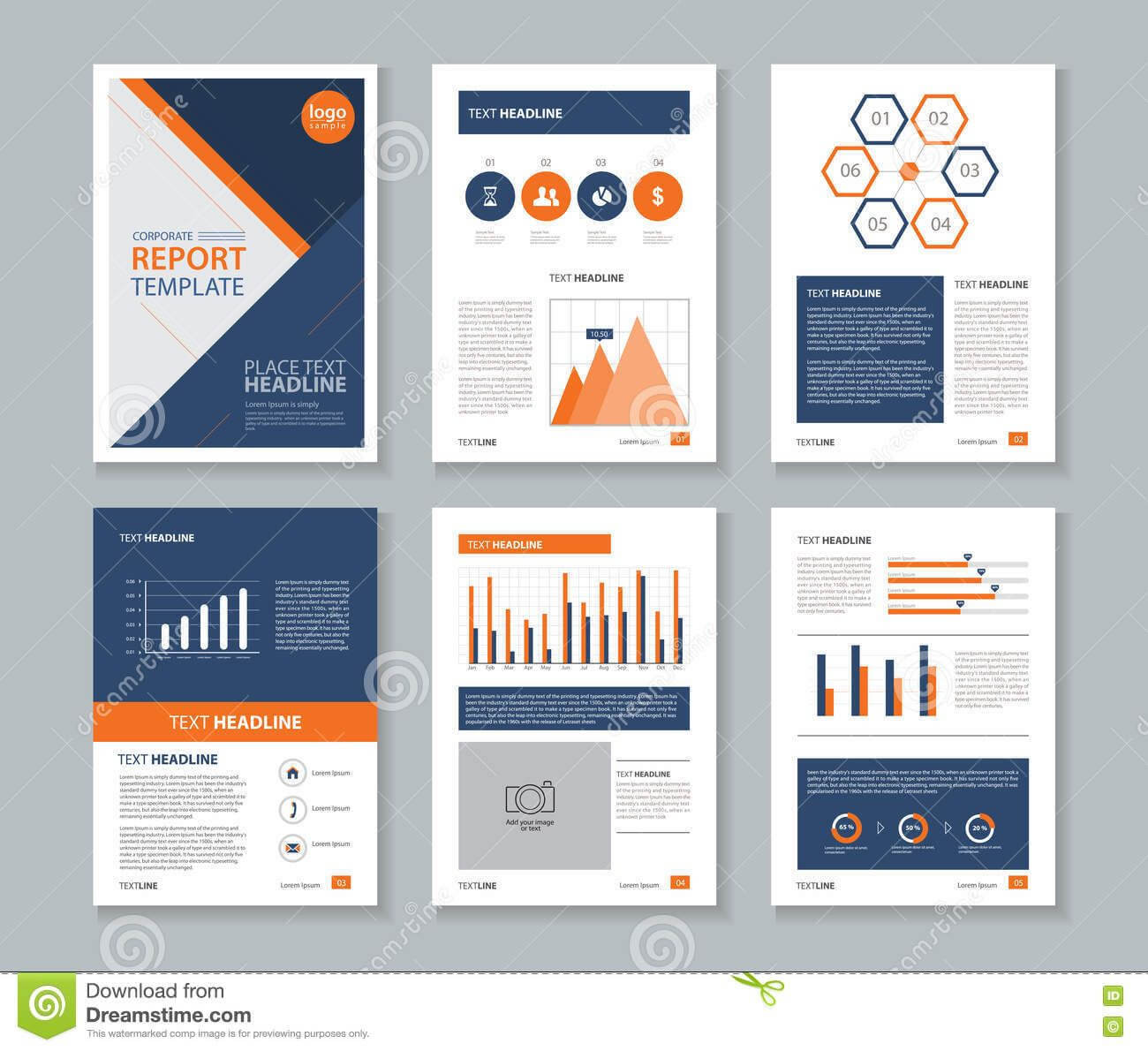 Photo About Page Layout Design Template, For Brochure Flyer regarding Illustrator Report Templates