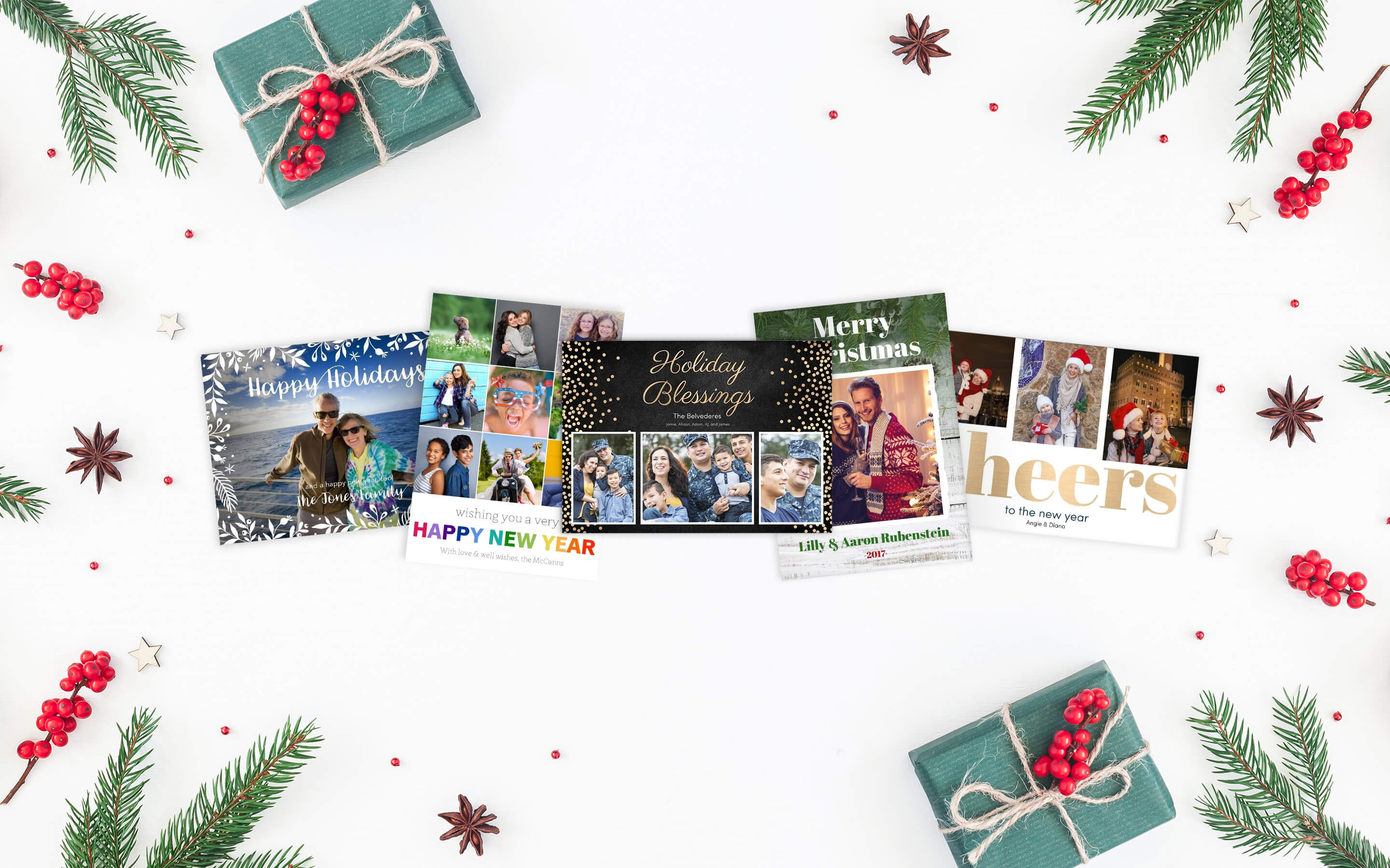 Photo Cards for Birthday Card Collage Template
