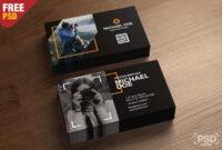 Photography Business Cards Template Psd – Psd Zone regarding Psd Name Card Template