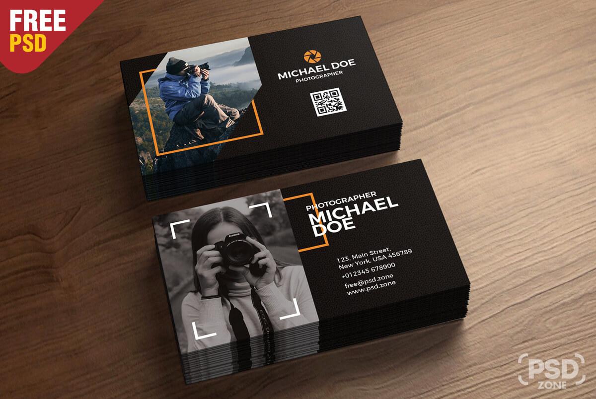 Photography Business Cards Template Psd - Psd Zone regarding Psd Name Card Template