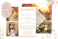 Photography Gift Certificate Card – Adobe Photoshop .psd Template #11 in Gift Certificate Template Photoshop