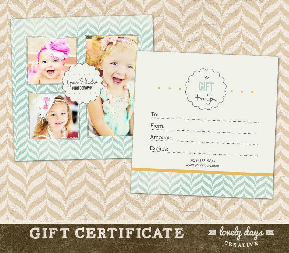 Photography Gift Certificate Template For Professional with regard to Free Photography Gift Certificate Template