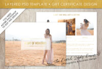 Photography Gift Certificate Template – Photo Gift Card – Layered .psd  Files – Design #31 in High Resolution Certificate Template