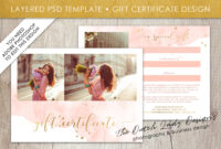 Photography Gift Certificate Template – Photo Gift Card – Watercolor Style  – Layered .psd Files – Design #43 for Gift Certificate Template Photoshop