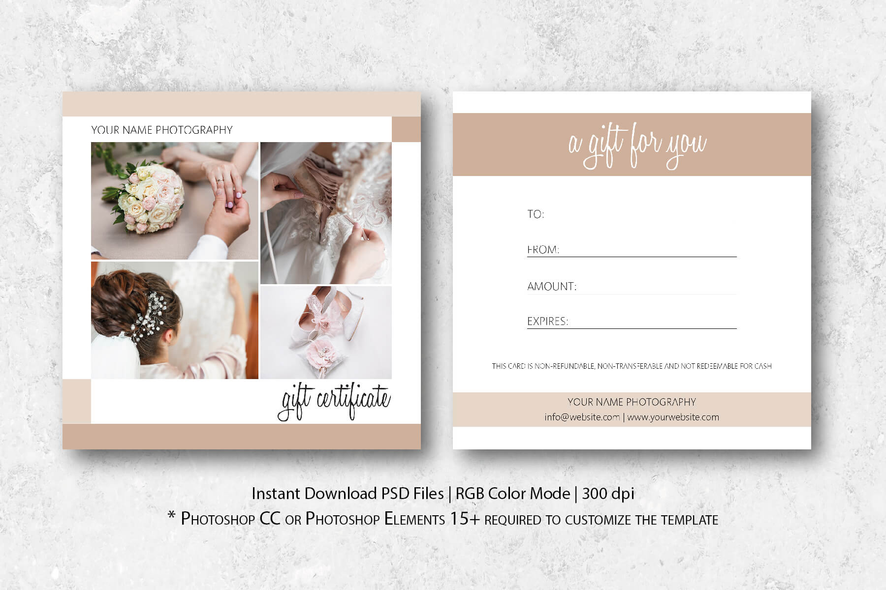 Photography Gift Certificate Template With Gift Certificate Template Photoshop