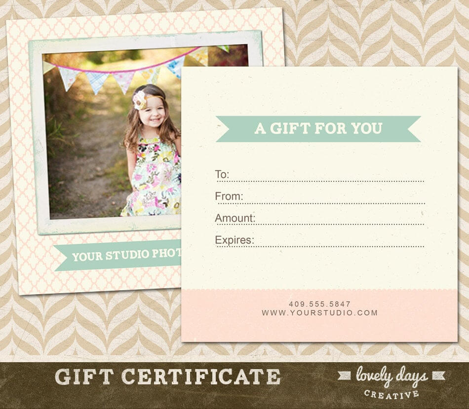 Photography Gift Certificate Templates regarding Free Photography Gift Certificate Template