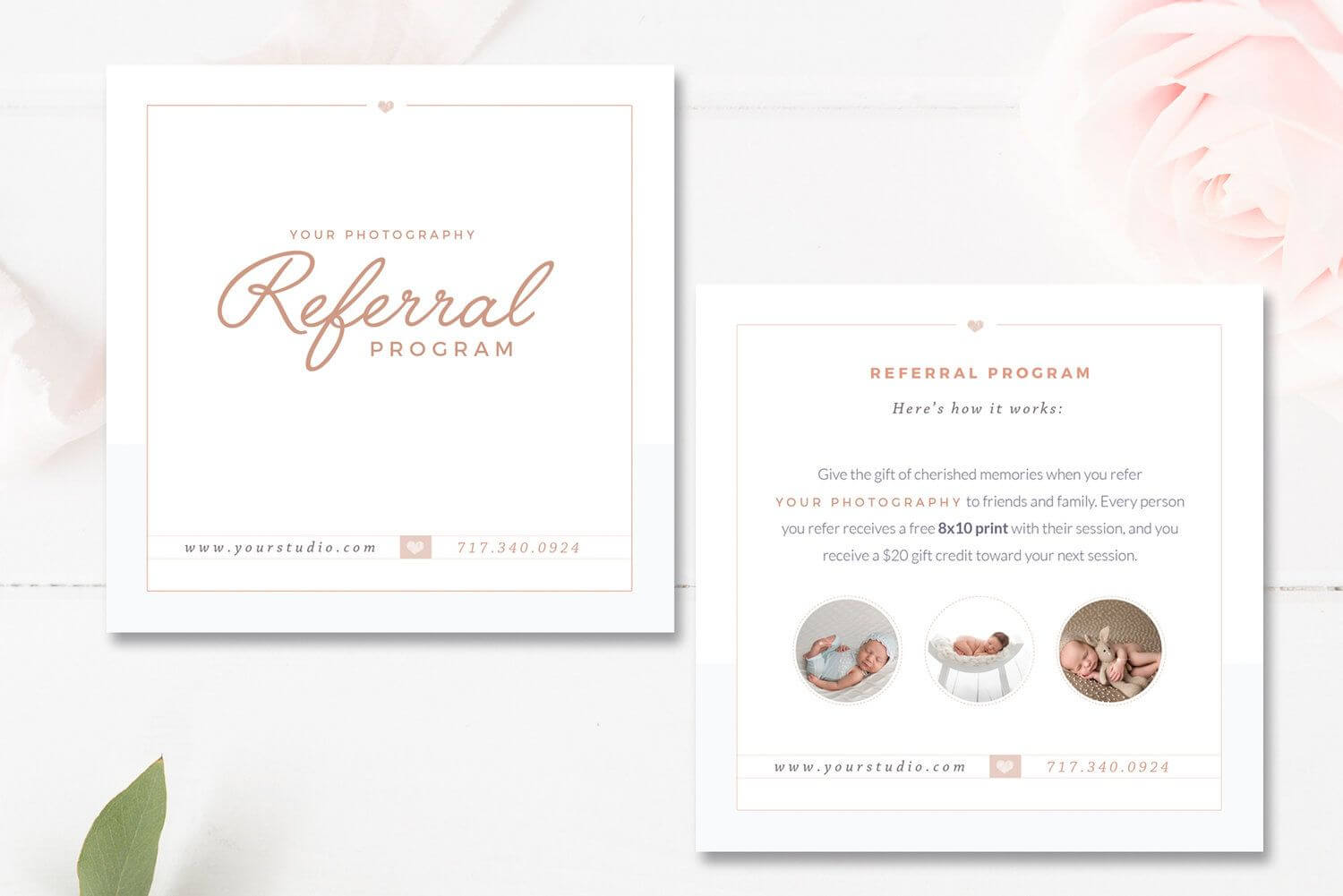 Photography Referral Card Templates, Referral Program intended for Referral Card Template