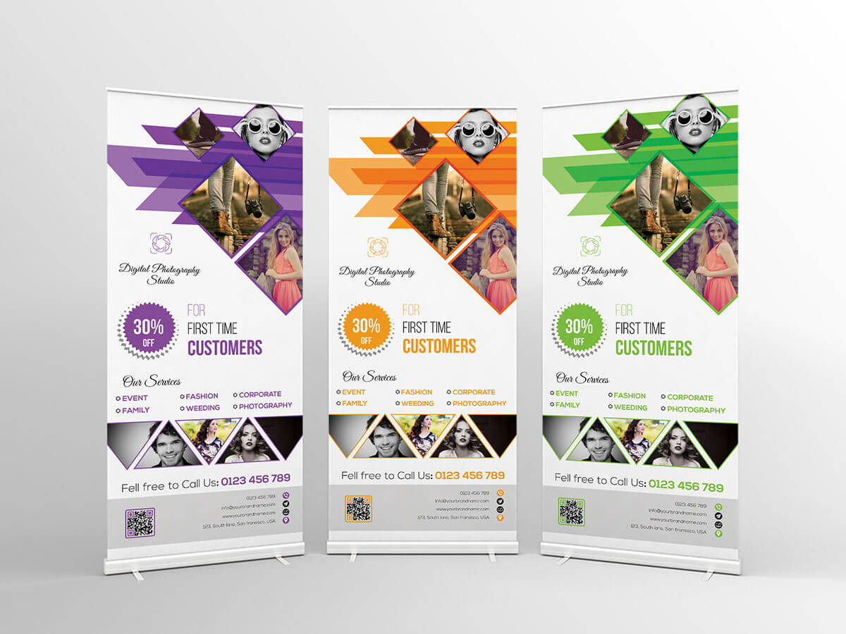 Photography Roll Up Banner Templatefaysal Ahmed Habib On Intended For Photography Banner Template