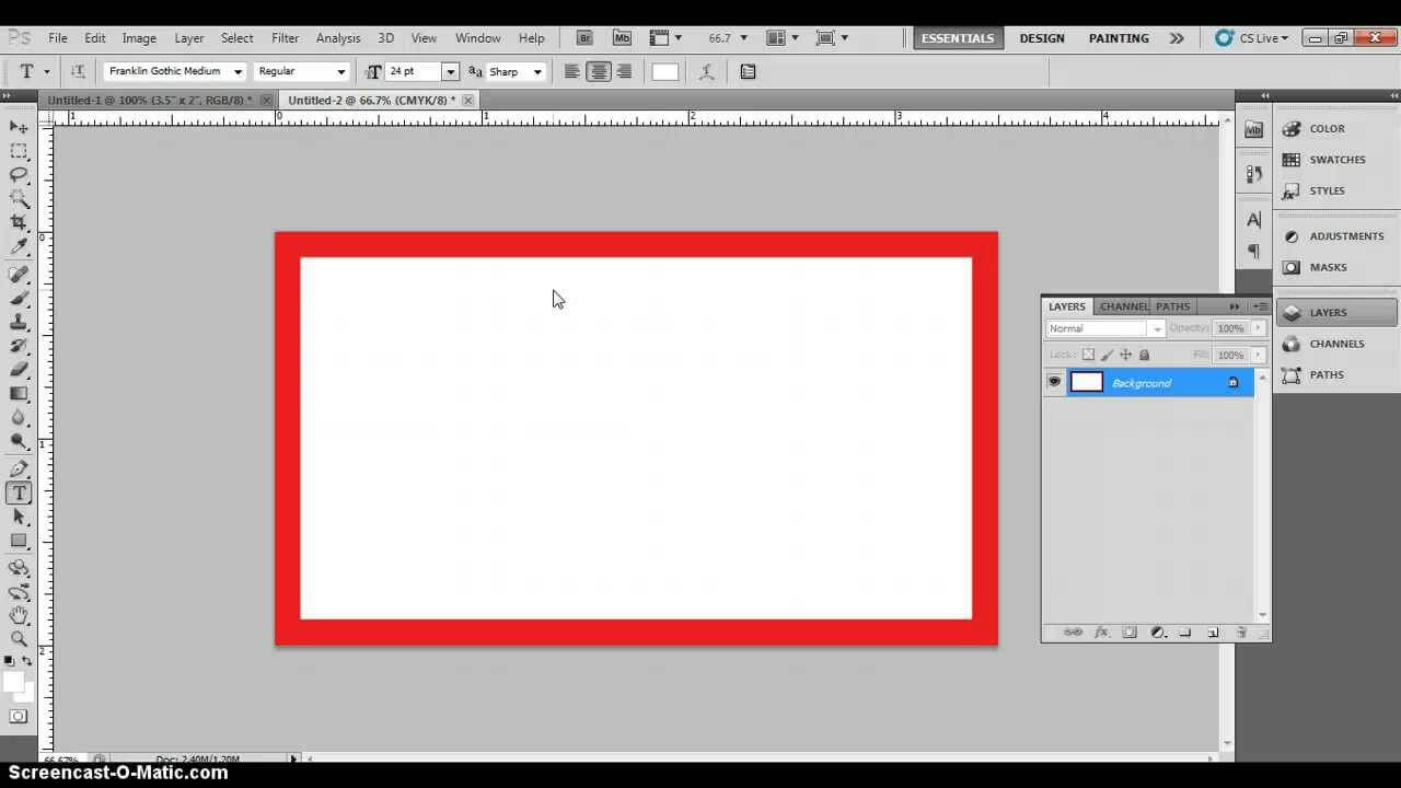 Photoshop Business Card Template With Bleeds & Correct Business Card  Dimensions in Photoshop Name Card Template