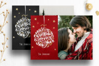 Photoshop Christmas Card Template For Photographers – 012 with Free Photoshop Christmas Card Templates For Photographers