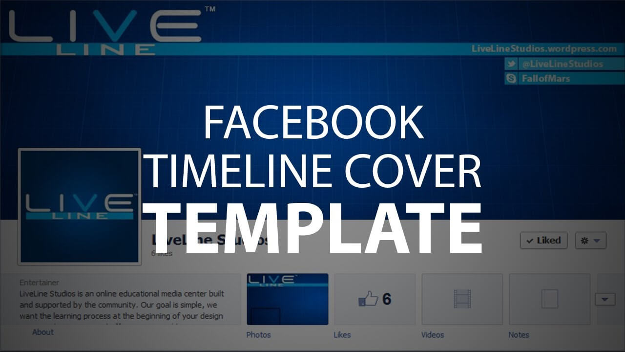 Photoshop Template: Facebook Timeline Cover (Psd File) In Facebook Banner Template Psd