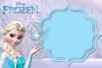 Pin On Birthdays with regard to Frozen Birthday Card Template