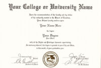 Pin On Fake University Certificates   Fake College Diploma regarding University Graduation Certificate Template