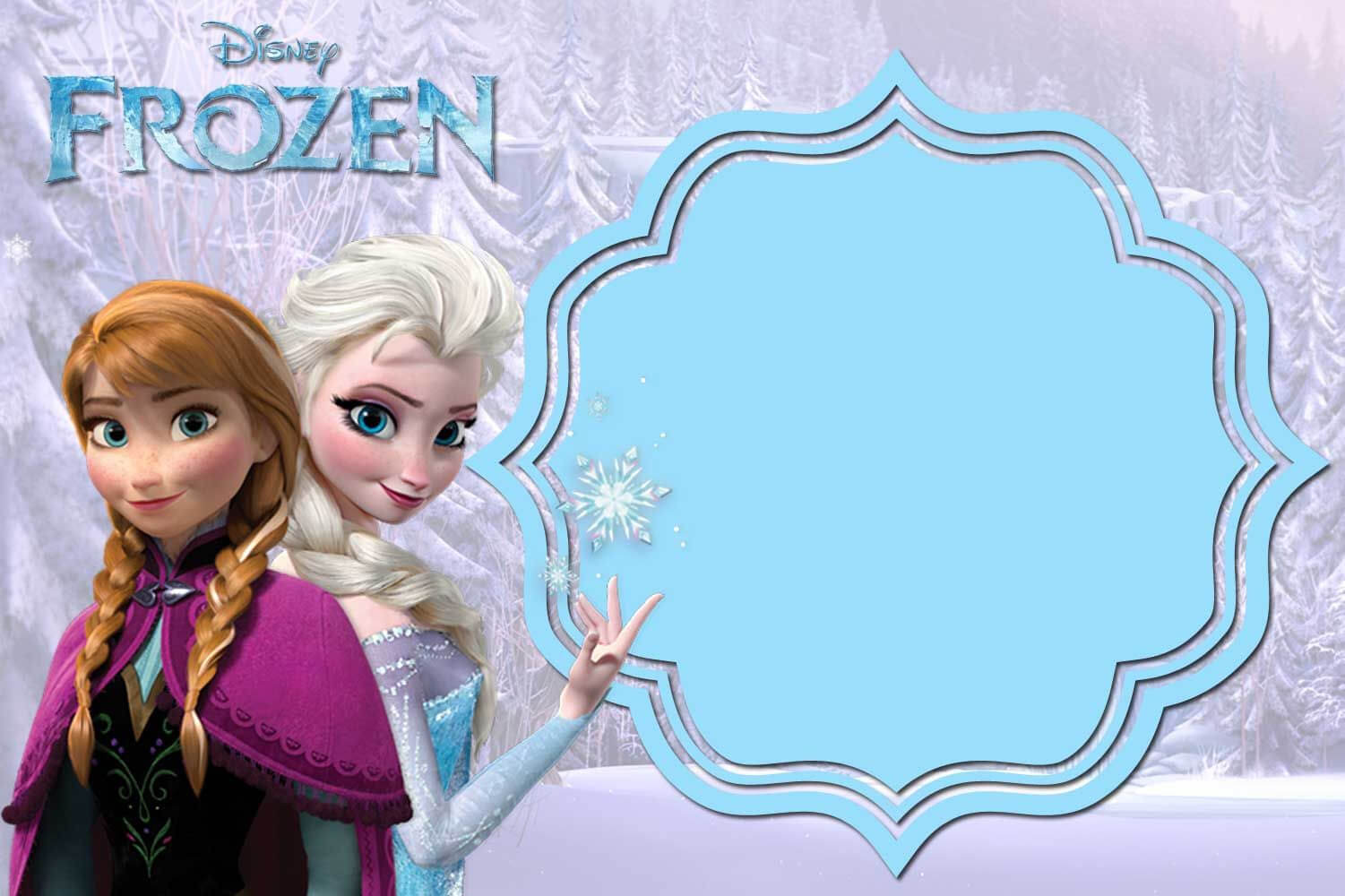 Pin On Free Printable Birthday Invitation for Frozen Birthday Card Template
