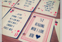 Pin On Gifts & Wrapping. regarding 52 Things I Love About You Deck Of Cards Template