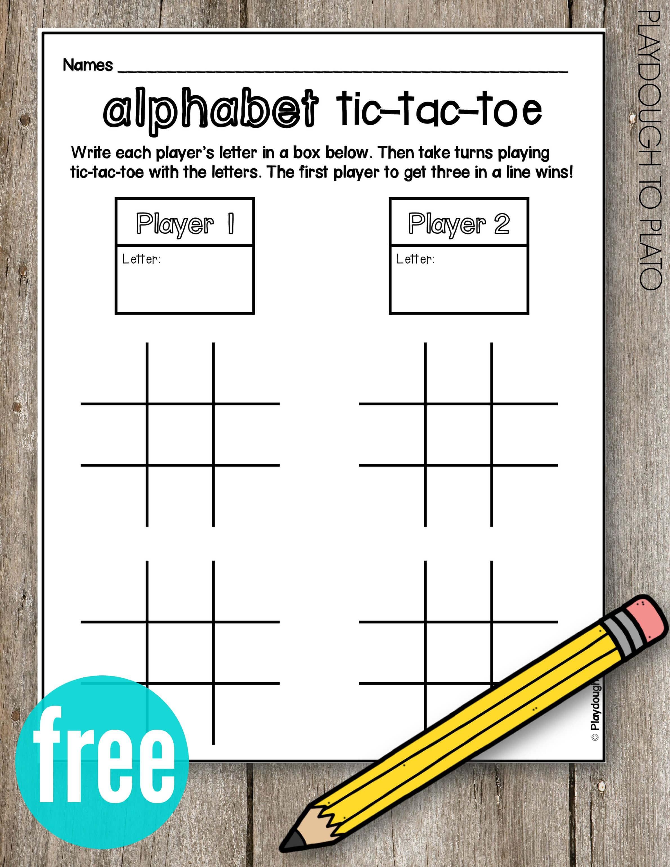 Pin On Junior Kindergarten With Tic Tac Toe Template Word