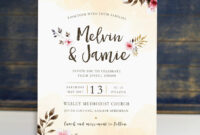 Pin On Ss-Wedding Invitations pertaining to Church Invite Cards Template