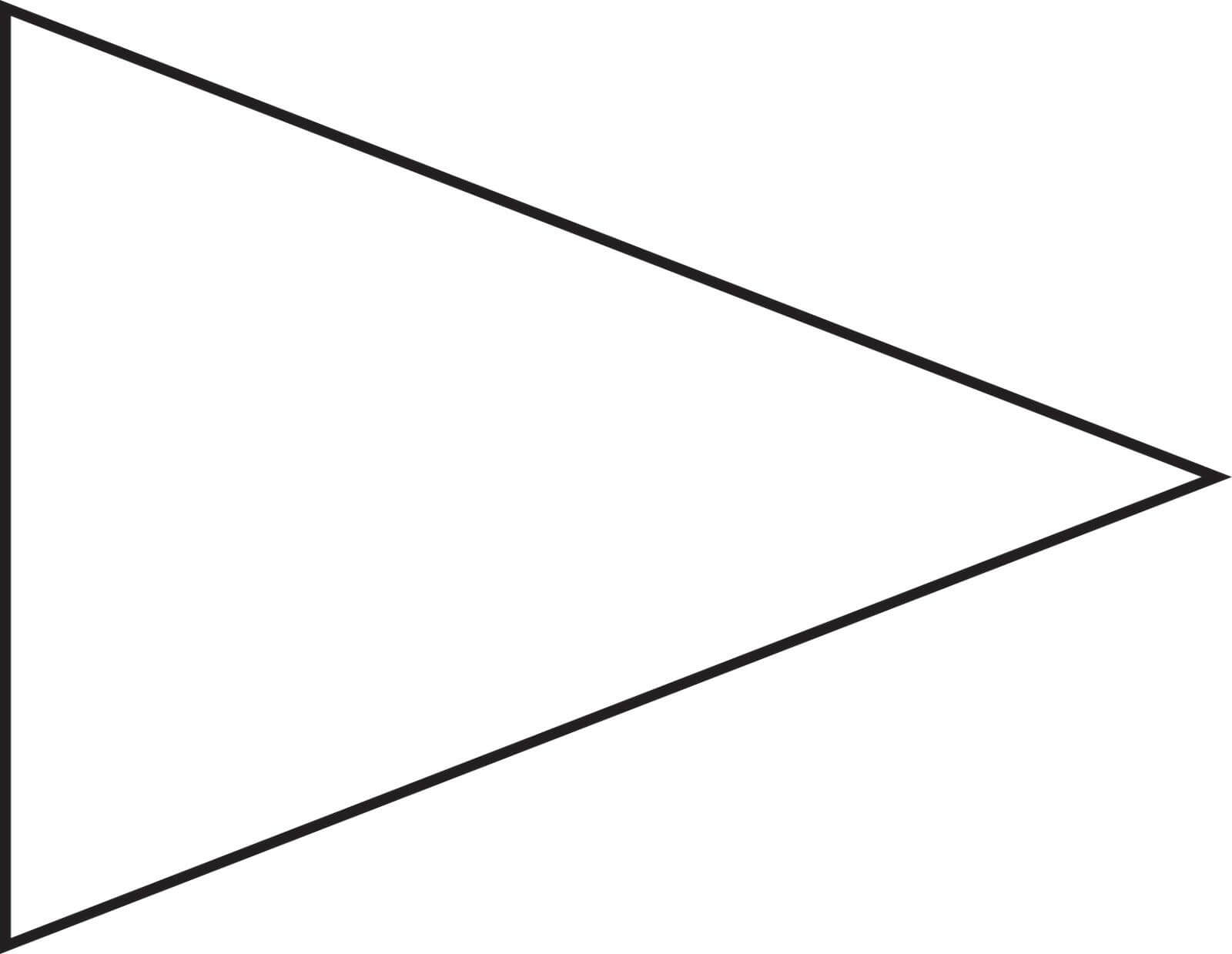 Pin Triangle Flag Outline Clip Art Vector Online Royalty Regarding College Banner Template