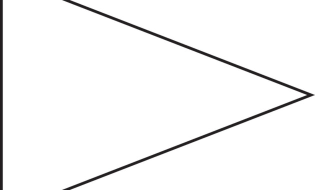 Pin Triangle Flag Outline Clip Art Vector Online Royalty regarding Free Triangle Banner Template