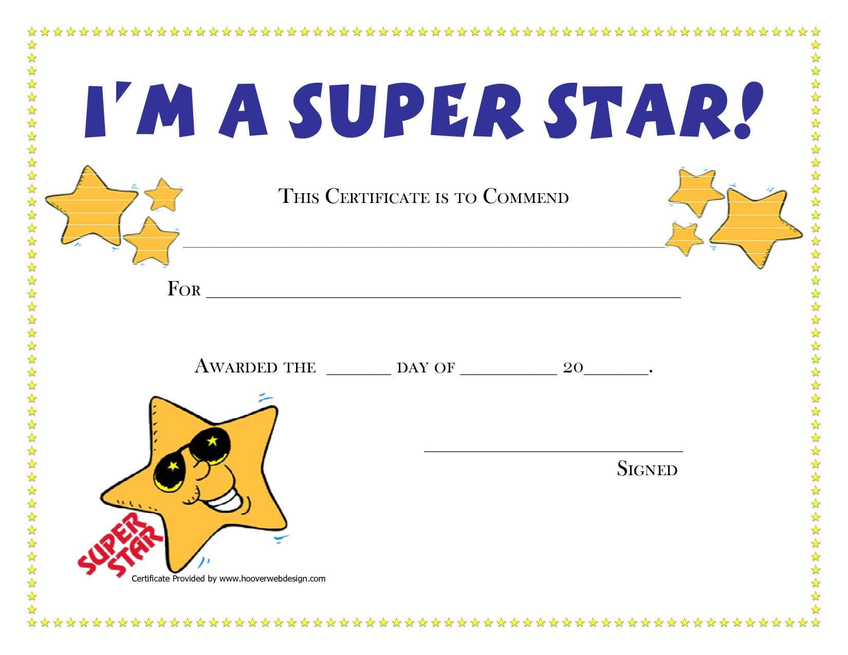 Pinamanda Crawford On Teaching Music And Loving It with Star Certificate Templates Free