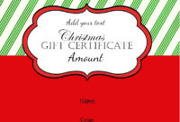 Pinamber M Ross On Gift Ideas | Gift Certificate for Free Christmas Gift Certificate Templates