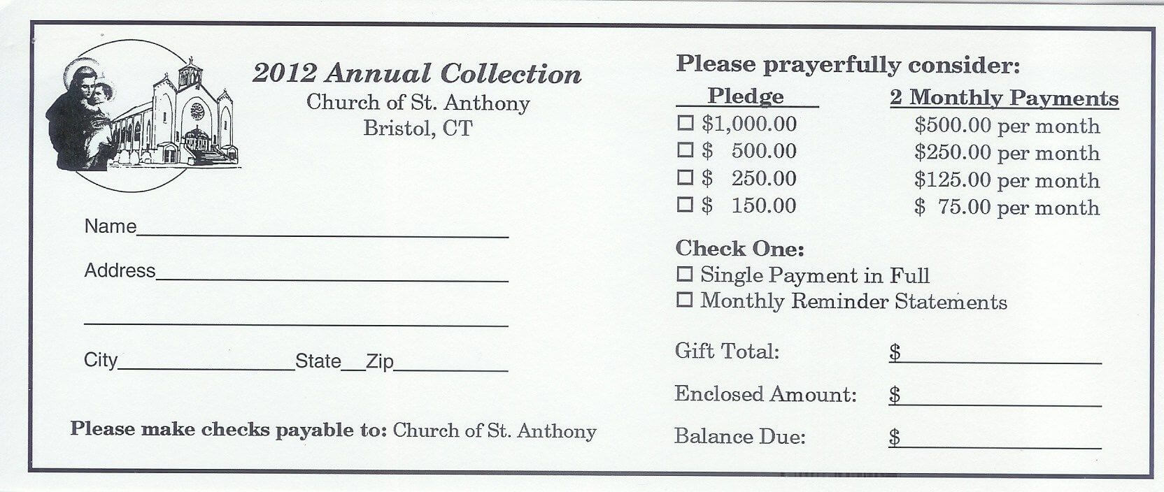 Pinandrew Martin On Pledge Cards   Fundraising intended for Fundraising Pledge Card Template